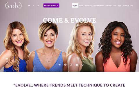 Screenshot of Home Page evolvesalon.ca - Evolve Salon - Hair Studio Toronto - captured Feb. 1, 2016