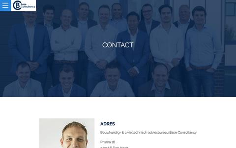 Screenshot of Contact Page base-consultancy.nl - Contact | Base Consultancy - captured Aug. 1, 2018