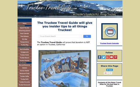 Screenshot of Home Page truckee-travel-guide.com - Truckee Travel Guide is an Insider's Guide to All Things Truckee, California! - captured June 28, 2017