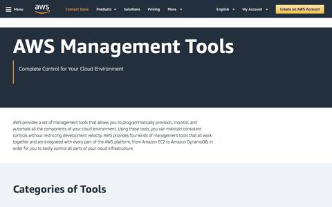 Screenshot of Team Page amazon.com - AWS Management Tools - Amazon Web Services (AWS) - captured Dec. 30, 2017