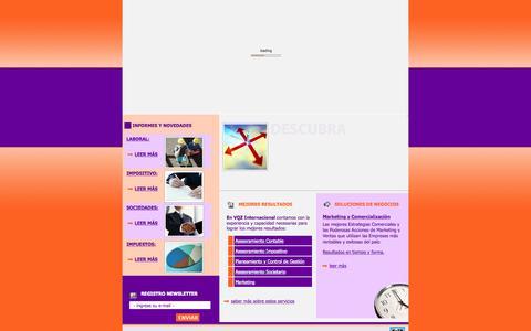 Screenshot of Home Page vqzint.com.ar - VQZ Internacional - Consultora Integral - captured Sept. 4, 2015