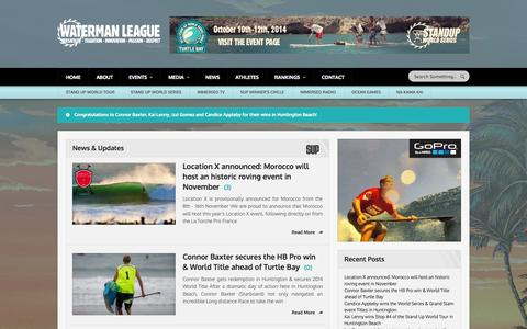 Screenshot of Press Page watermanleague.com - Waterman League   Versatility - Tradition - Innovation - Passion - Respect - captured Sept. 30, 2014