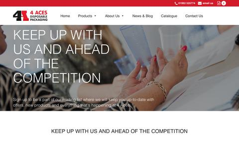 Screenshot of Signup Page 4acesltd.com - 4 Aces Ltd » KEEP UP WITH US AND AHEAD OF THE COMPETITION - captured Sept. 20, 2018