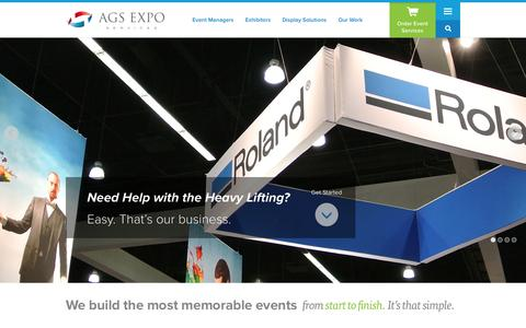Screenshot of Home Page ags-expo.com - AGS Exposition Services - captured Aug. 5, 2015