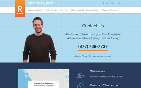 Contact Us - Revolution Prep