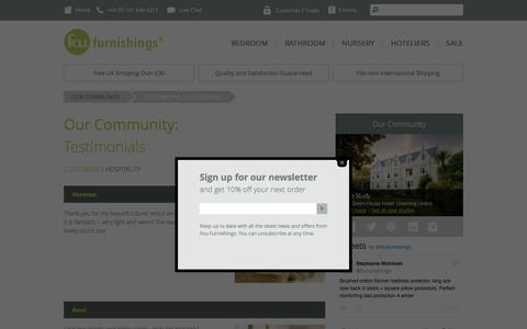 Screenshot of Testimonials Page foufurnishings.com -   Fou Furnishings - captured Nov. 25, 2016