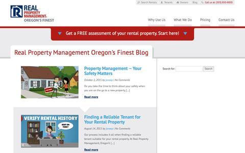 Screenshot of Blog rpmoregonsfinest.com - Portland OR Property Management Blog   Real Property Management Oregons Finest - captured Nov. 29, 2016