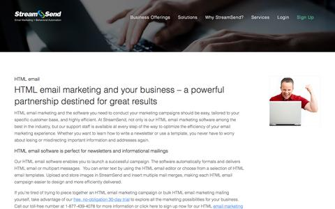 HTML Email, Marketing, Software - StreamSend