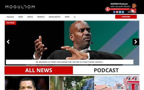 Screenshot of Home Page moguldom.com - Moguldom - Digital Media, Tech, Politics, Crypto, Inequality - captured March 13, 2019