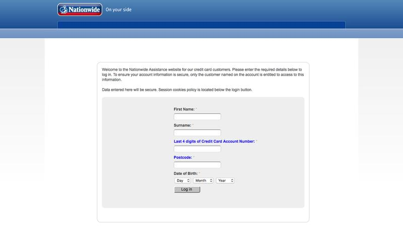 Login | Nationwide Credit Card Services