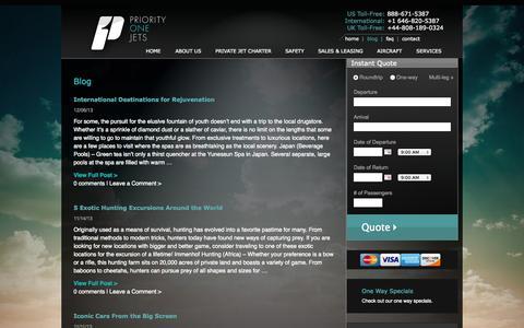 Screenshot of Blog priorityonejets.com - Blog | Priority One Jets - captured Sept. 30, 2014
