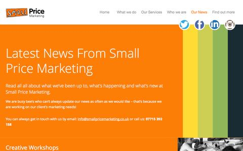 Screenshot of Press Page smallpricemarketing.co.uk - Latest News from Small Price Marketing - captured Oct. 29, 2014