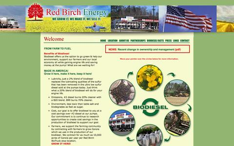 Screenshot of Locations Page redbirchenergy.com - Red Birch Energy - captured Oct. 26, 2014