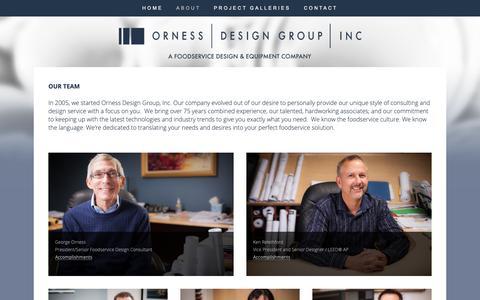 Screenshot of Team Page ornessdesigngroup.com - Our Team — Orness Design Group - captured Oct. 19, 2018