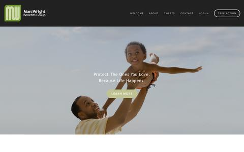Screenshot of Home Page mwbenefitsgroup.com - MarcWright Benefits Group - captured Oct. 6, 2014