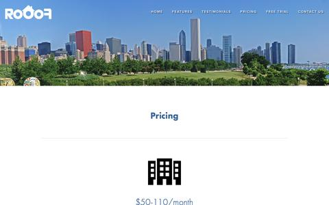 Screenshot of Pricing Page rooof.com - Pricing — Rooof - captured Aug. 15, 2016