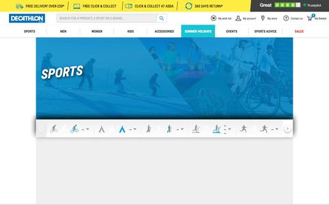 Screenshot of Site Map Page decathlon.co.uk - Over 70 Sports Online | Decathlon - captured Aug. 9, 2019
