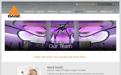 Screenshot of Team Page basestructures.com - The Base Structures Team | Meet Us | Base Structures - captured Oct. 5, 2018