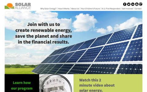 Screenshot of Home Page Menu Page freedomsolaralliances.com - Save The Planet - Freedom Solar Alliances - captured Oct. 24, 2014
