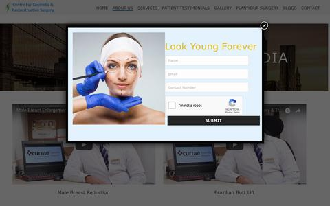Screenshot of Press Page cosmeticssurgerycentre.com - Media - Centre for Cosmetic and Reconstructive Surgery - captured Sept. 25, 2018