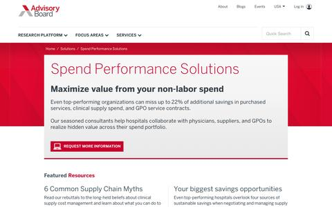 Spend Performance Solutions | The Advisory Board Company