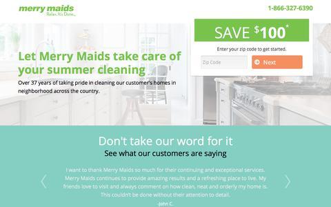 Screenshot of Landing Page merrymaids.com - Merry Maids | Request a Quote - captured Sept. 11, 2017