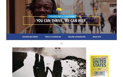Screenshot of Blog thriveworks.com - Counseling Blog, Mental Health News - captured Dec. 14, 2019