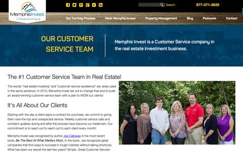 Screenshot of Support Page memphisinvest.com - Turnkey Real Estate Investing with Memphis Invest | Customer Service - captured Sept. 30, 2018