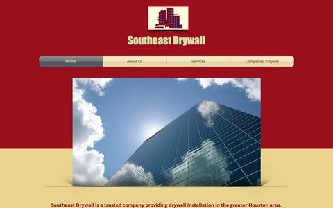 Screenshot of Home Page southeastdrywall.com - Southeast Drywall - captured Oct. 6, 2014