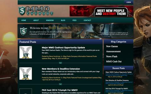 Screenshot of Press Page mmocashout.com - Featured Posts | MMO Cashout - captured Oct. 31, 2014