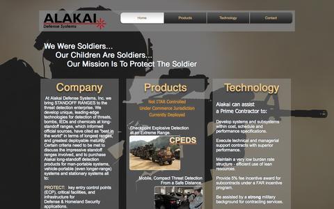 Screenshot of Home Page alakaidefense.com - Alakai Defense Systems providing long-range stand-off detection - captured Nov. 20, 2016