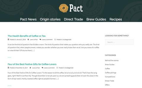 Screenshot of Blog pactcoffee.com - The Perc - captured Jan. 13, 2018
