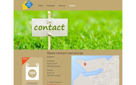 Screenshot of Contact Page debronbv.com - Contact | De Bron - captured Sept. 30, 2014