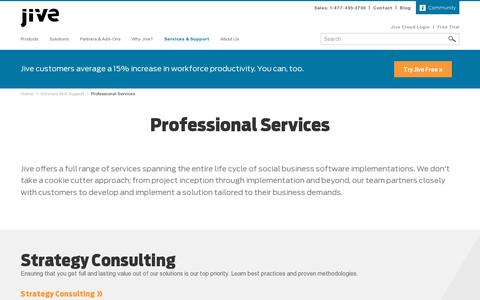 Screenshot of Services Page jivesoftware.com - Professional Services | Jive Software - captured July 20, 2014