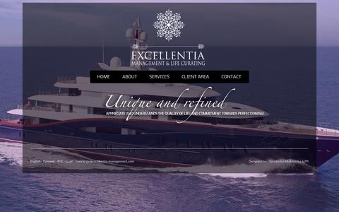 Screenshot of Team Page excellentia-management.com - Excellentia Management and Life Curating - captured Oct. 3, 2014