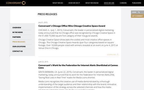 Press Releases | Conversant