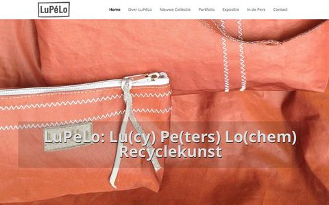 Screenshot of Home Page lupelo.nl - LuPéLo Recyclekunst | - captured Oct. 3, 2014