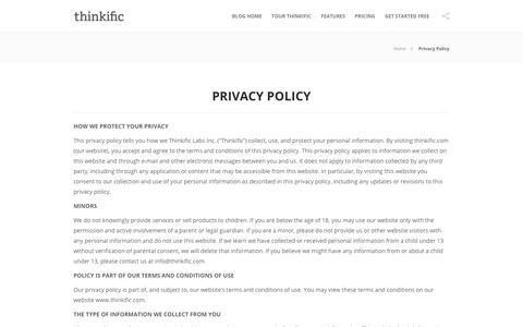 Privacy Policy | Thinkific Blog