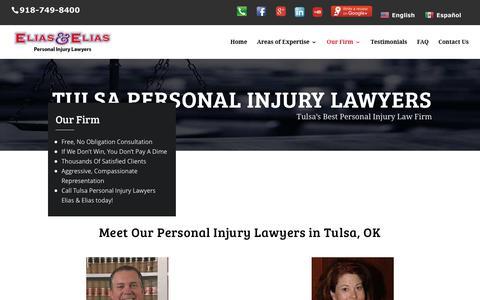 Screenshot of About Page eliasandelias.com - Tulsa Personal Injury Lawyers | Elias & Elias | 918-749-8400 - captured July 26, 2017