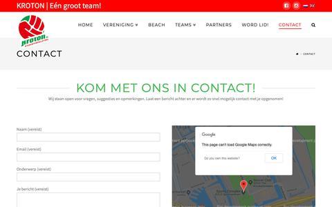 Screenshot of Contact Page kroton.nl - Contact | KROTON - captured Oct. 19, 2018