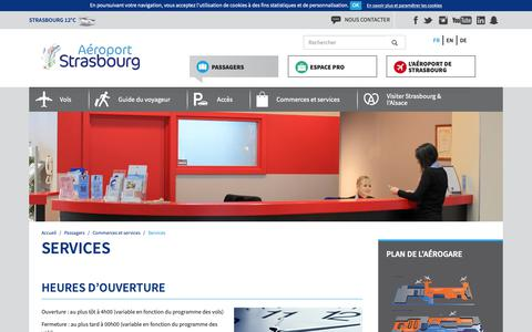 Screenshot of Services Page strasbourg.aeroport.fr - Services - Aéroport de Strasbourg - captured Oct. 3, 2018