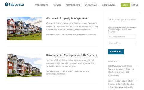 Screenshot of Case Studies Page paylease.com - HOA | PayLease - captured Aug. 4, 2018