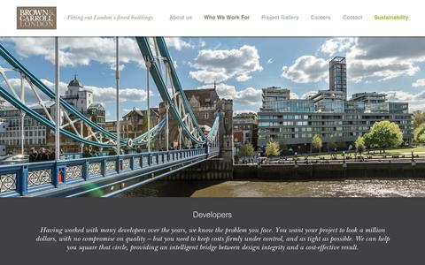 Screenshot of Developers Page brown-carroll.co.uk - Developers | Brown & Carroll - captured Oct. 7, 2018