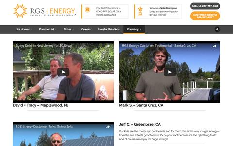 Screenshot of Testimonials Page rgsenergy.com - Testimonials - RGS Energy - captured Aug. 4, 2017