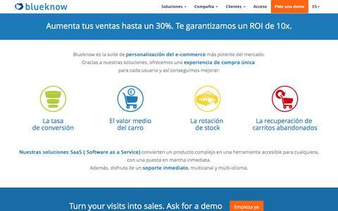 blueknow: suite de personalización multicanal para ecommerce