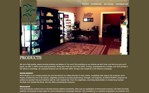 Screenshot of Products Page thevinesalon.com - Products | The Vine Salon - captured Oct. 7, 2014
