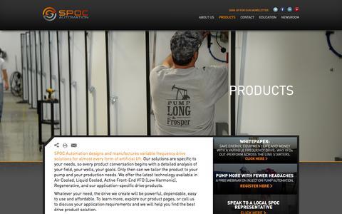 Screenshot of Products Page spocautomation.com - Products - SPOC AutomationSPOC Automation - captured Aug. 2, 2015