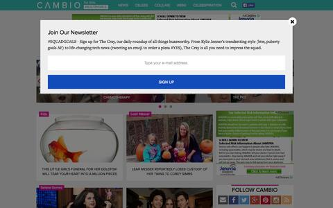 Screenshot of Press Page cambio.com - Cambio News   Up-to-the-Minute Entertainment News, Celebrity Photo Galleries, Exclusive Videos - captured Oct. 21, 2015