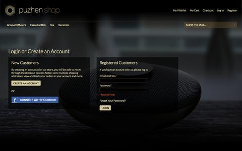 Screenshot of Login Page puzhen.com - Customer Login - captured Oct. 3, 2014