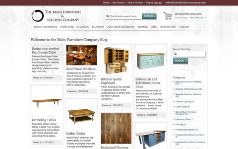 Screenshot of Blog mainfurniturecompany.com - The Main Furniture Company Blog - captured Oct. 9, 2014